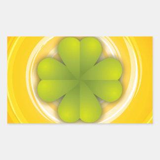 De Klaver van vier Blad Rechthoek Sticker