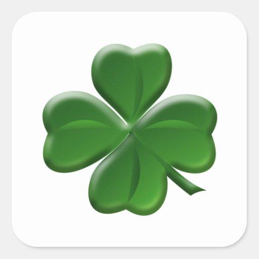De Klaver van vier Blad - St Patrick de Knoop van Vierkant Sticker