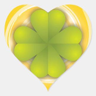 De Klaver van vier Blad Hartvormige Stickers