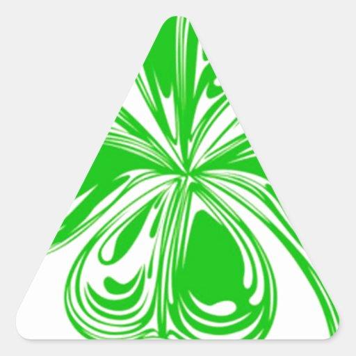 De Klaver van vier Blad Driehoekvormige Sticker