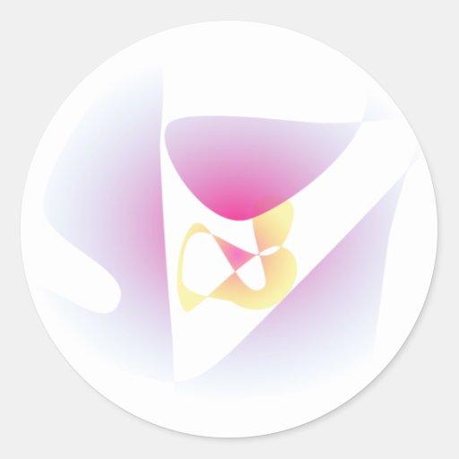 De Klaver van vier Blad Ronde Stickers