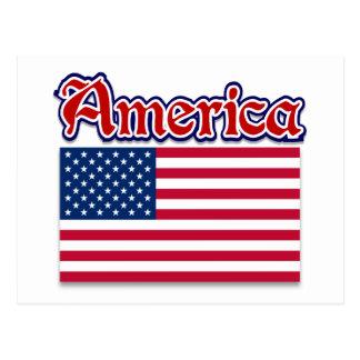 De Kleding van Amerika en de Amerikaanse Giften Briefkaart