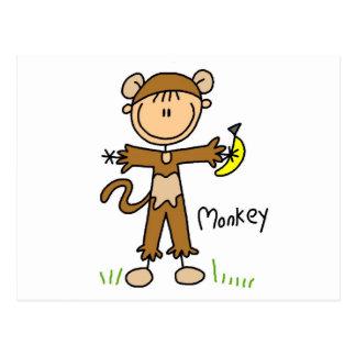 De Kleding van de aap op T-shirts en Giften Briefkaart