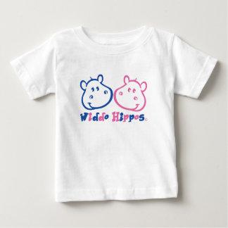De Kleding van het Baby van Hippos van Widdo Baby T Shirts
