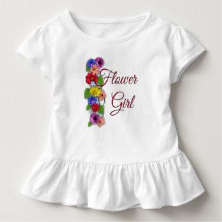 De Kleding van het Huwelijk T van de Ruche van de Kinder Shirts