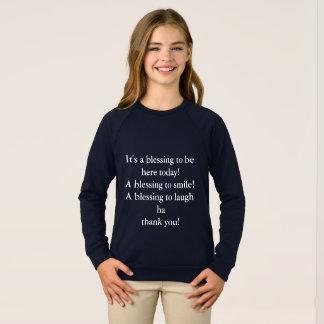 de kledingsraglan van het meisje Amerikaans Trui