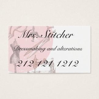 De kleermakerij of het naaien themed visitekaartje visitekaartjes