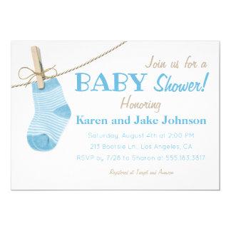 De kleine Blauwe Uitnodiging van het Baby shower