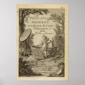 De Kleine moderne atlas van de titelpagina Poster