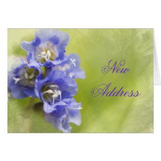 De kleine Paarse Adreswijziging van Bloemen Briefkaarten 0