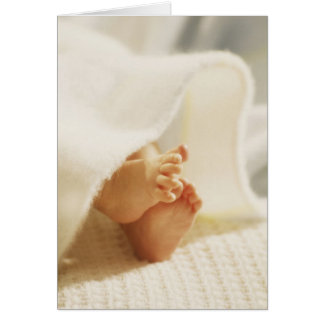 De Kleine Voeten van de baby Wenskaart