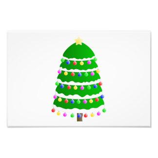 De klemart. van de kerstboom foto