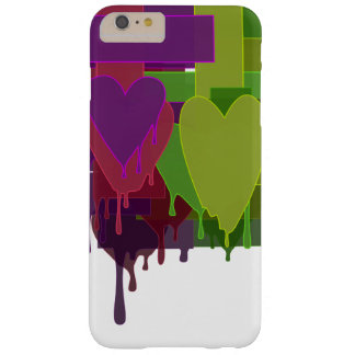 De kleur blokkeert Smeltende Harten Barely There iPhone 6 Plus Hoesje