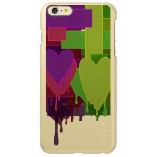 De kleur blokkeert Smeltende Harten Incipio Feather® Shine iPhone 6 Plus Hoesje