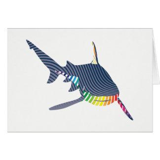 De Kleur Swoosh van de haai Briefkaarten 0