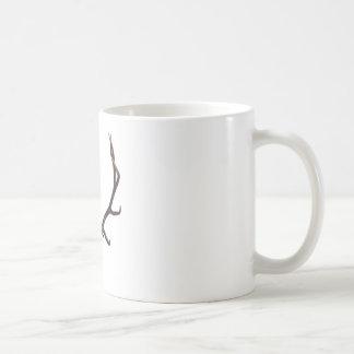 De kleur van de de elandenschedel van de stier koffiemok
