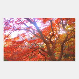 De Kleur van de herfst Rechthoek Stickers