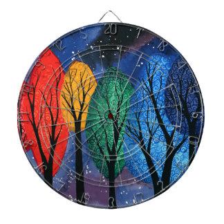 De kleur van de nacht - de sterrige hemel van dartbord