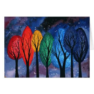 De kleur van de nacht - de sterrige hemel van kaart