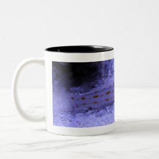 De kleur van de oceaan tweekleurige koffiemok