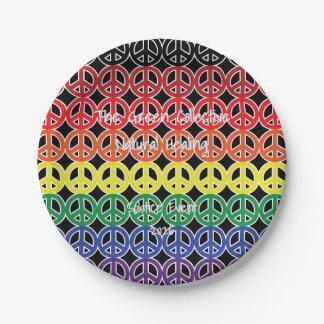 De Kleur van de Regenboog van het Teken van de Papieren Bordje