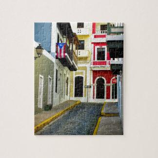 de kleur van oud San Juan Puerto Rico Puzzel