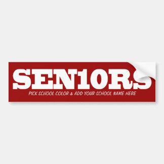 De kleur van Seniors_Pick en voegt School 2010 toe Bumpersticker