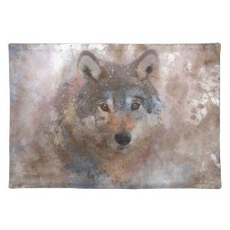 De kleur Wolfs van het water Placemat