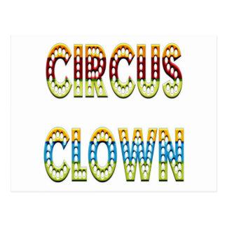 De Kleuren van de Clown van het circus Briefkaart