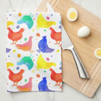 De Kleuren van de Regenboog van de Kippen van de Keukenhanddoek