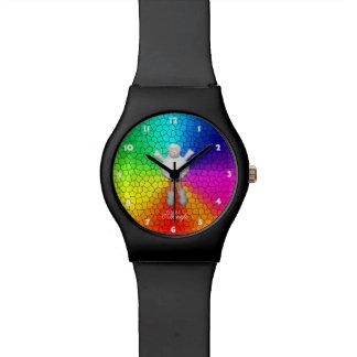 De Kleuren van de Regenboog van schapen Horloge