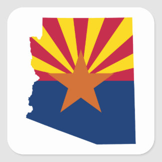 De Kleuren van de Vlag van Arizona Vierkante Sticker