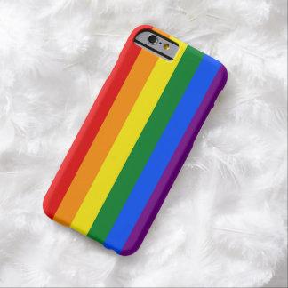 DE KLEUREN VAN DE VLAG VAN DE REGENBOOG + uw Barely There iPhone 6 Hoesje