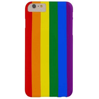DE KLEUREN VAN DE VLAG VAN DE REGENBOOG + uw Barely There iPhone 6 Plus Hoesje