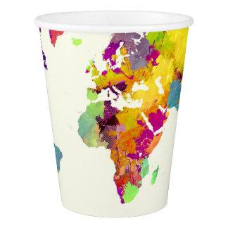 de kleuren van de wereldkaart