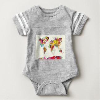 de kleuren van de wereldkaart baby bodysuit