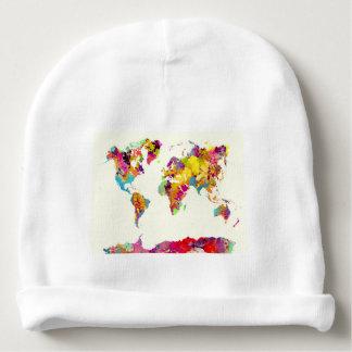 de kleuren van de wereldkaart baby mutsje