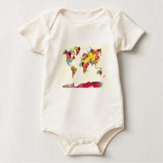 de kleuren van de wereldkaart baby shirt