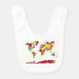de kleuren van de wereldkaart baby slabbetje