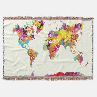de kleuren van de wereldkaart deken