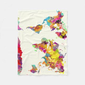 de kleuren van de wereldkaart fleece deken
