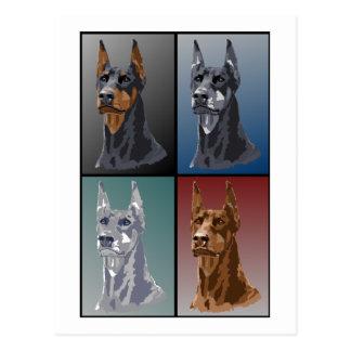 De Kleuren van Doberman Briefkaart