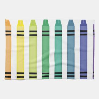 De Kleuren van het kleurpotlood Theedoek