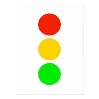 De Kleuren van het rood licht Briefkaart