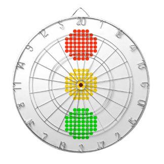 De Kleuren van het Rood licht van de punt Dartbord
