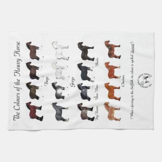 De kleuren van het Zware Paard Theedoek