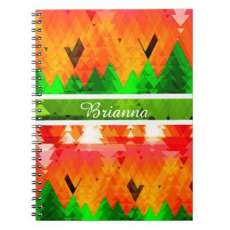 De kleuren van klantgerichte de bomen van de de ringband notitieboek