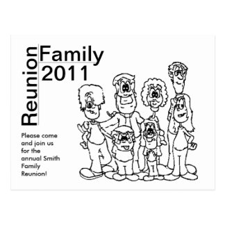De Kleuring van de Bijeenkomst 2011 van de familie Briefkaart
