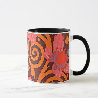 De kleurrijke Abstracte Bruine Roze Vlinders van Mok