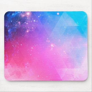 De kleurrijke Abstracte Geometrische Melkweg van Muismat